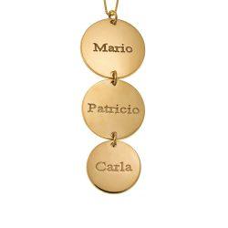 Vertical Disco Collar gold