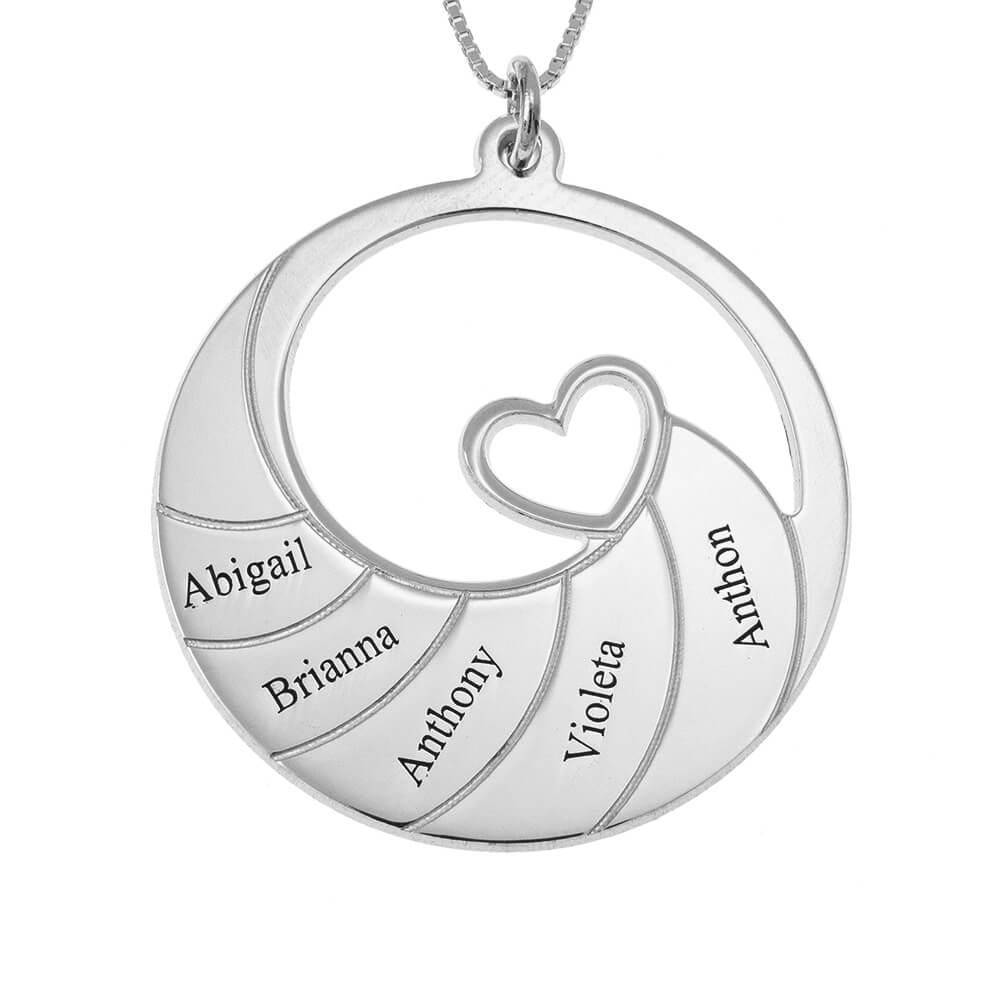 Five Nombres Spiral Collar silver