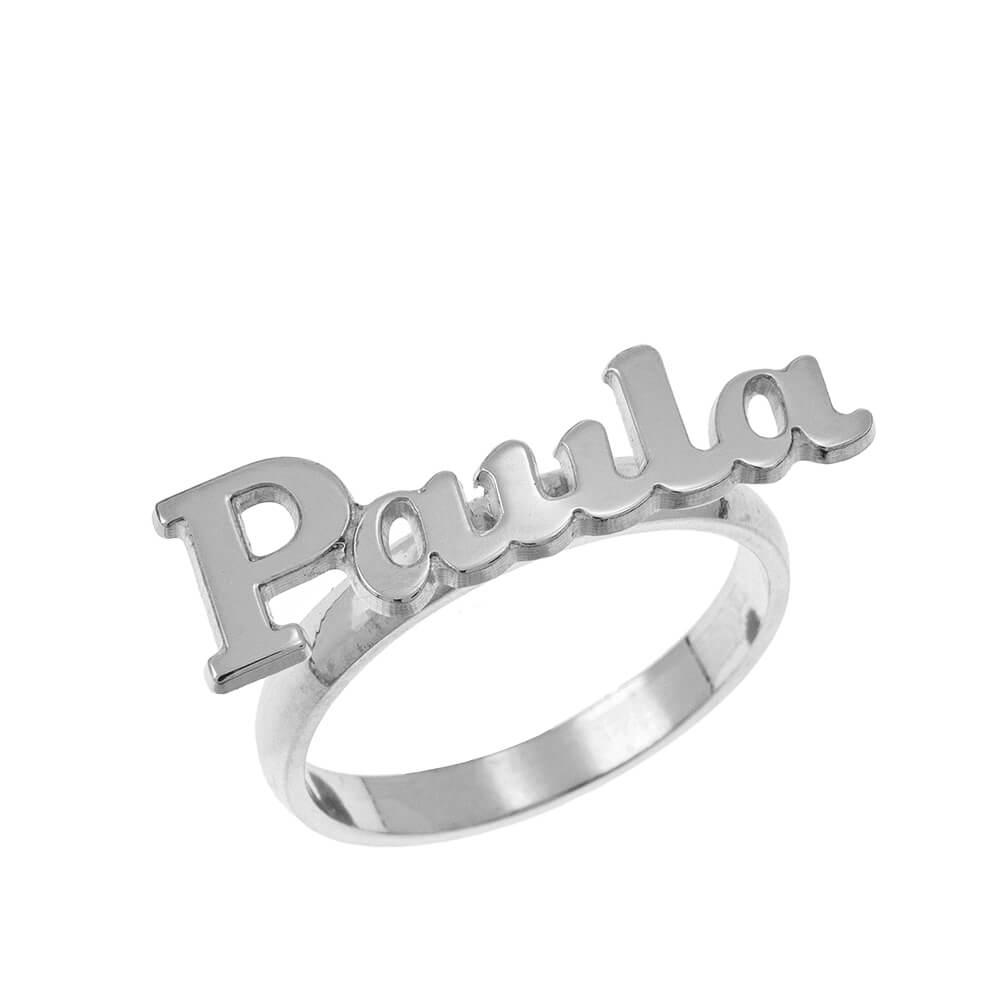 Script Nombre Ring silver