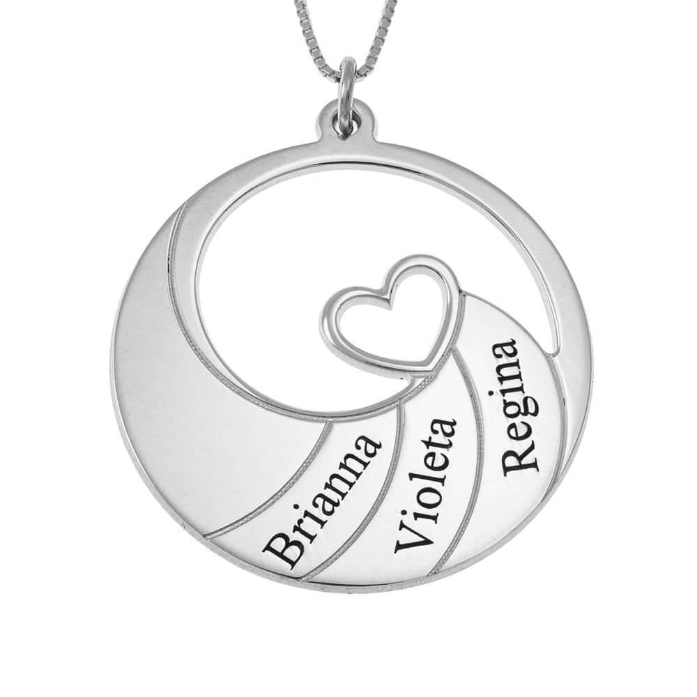 Three Nombres Spiral Collar silver