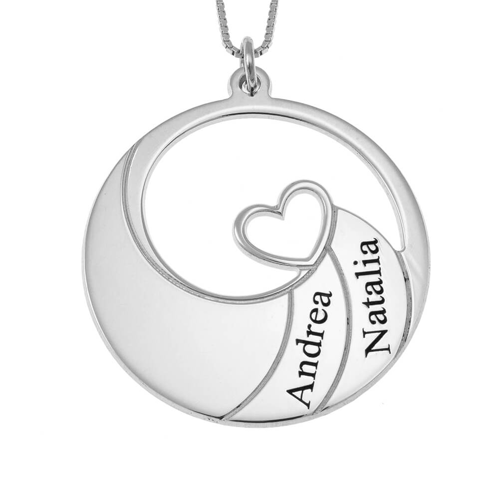 Two Nombres Spiral Collar silver