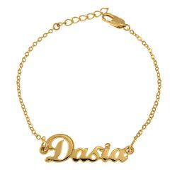 Dainty Nombre Pulsera gold