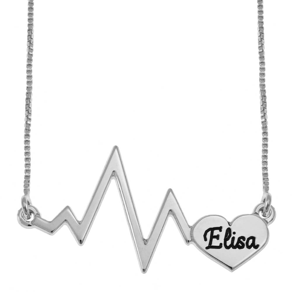 Corazónbeat Nombre Collar silver