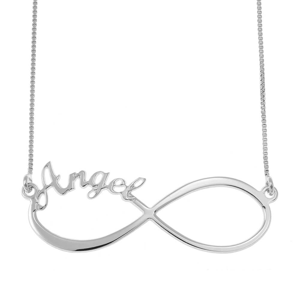 Infinity one Nombre Collar silver