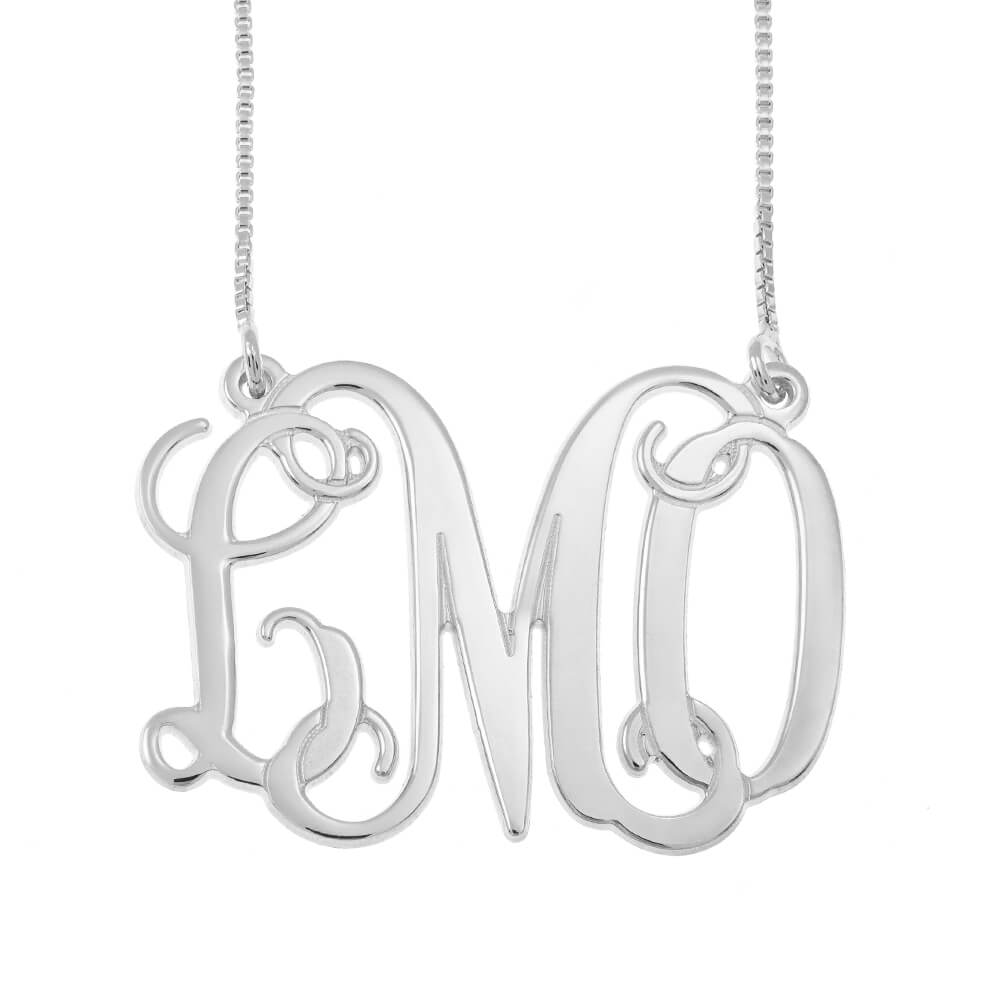 Monogram Iniciales Collar silver