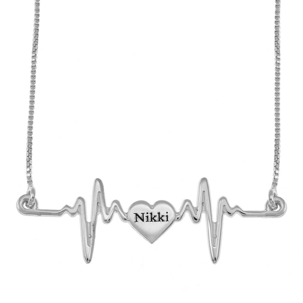 My Corazónbeat Nombre Collar silver