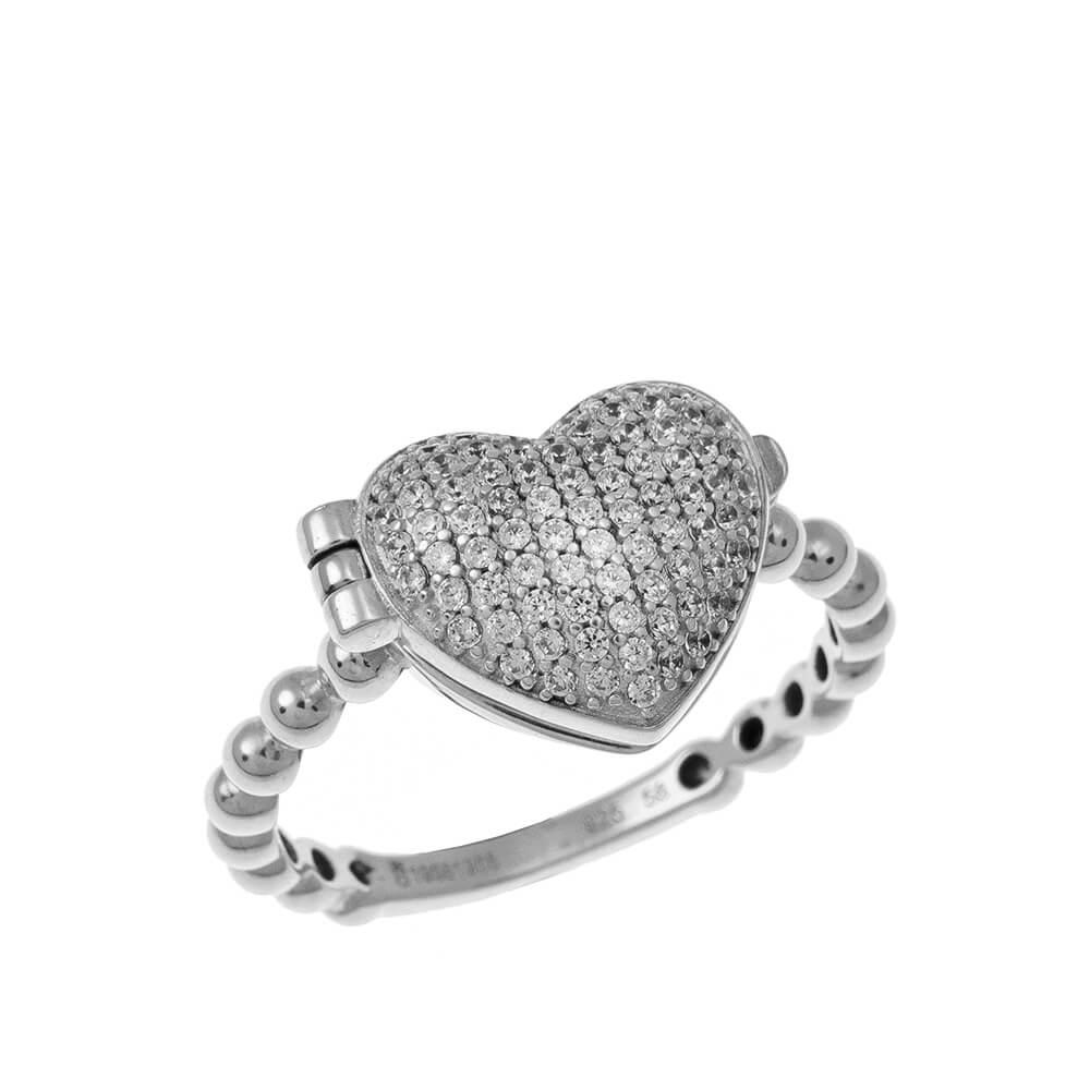 Close Locket Corazón Ring silver