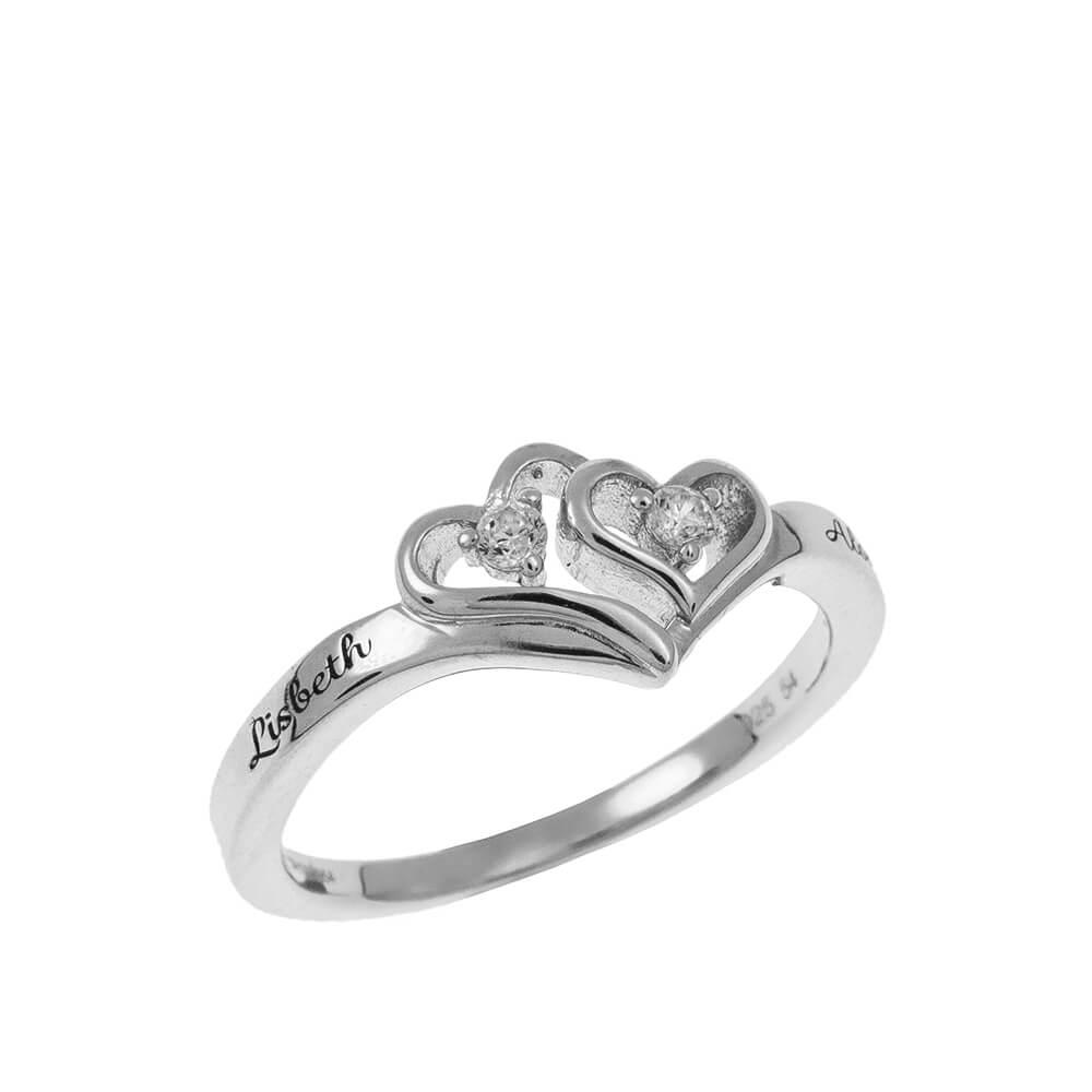Corazón to Corazón Promise Ring silver