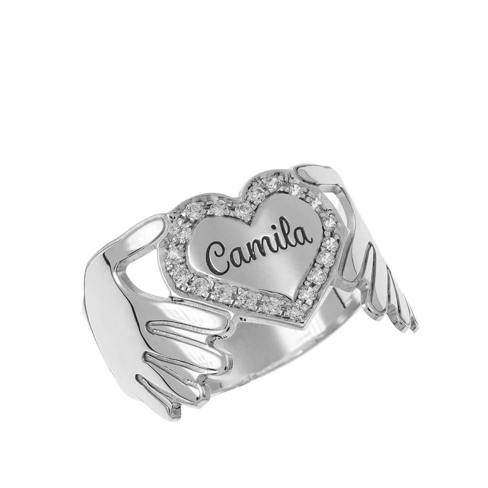 Inlay Corazón Ring silver