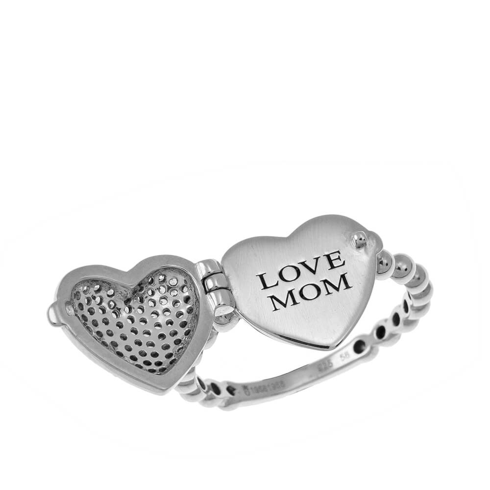 Locket Corazón Ring silver