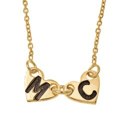 Attached Forever CORAZONES Collar gold