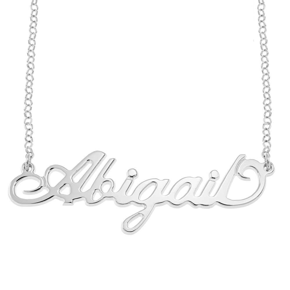 Carrie Rollo Nombre Collar silver
