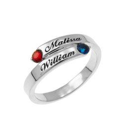 Custom Wrap Promise Ring silver