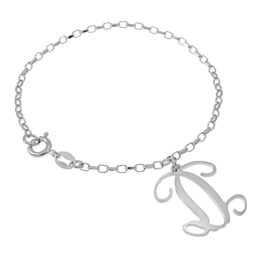 Dangling Monogram Pulsera silver