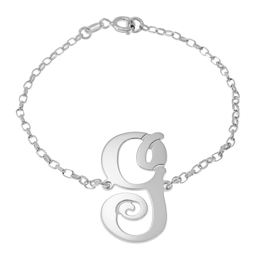 Delicate Monogram Pulsera silver