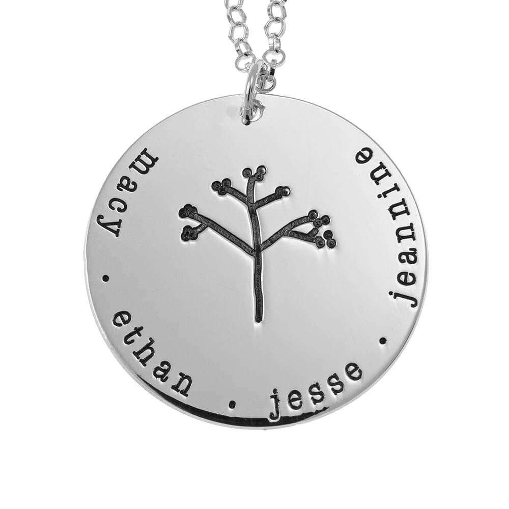 Disco Family Tree Collar silver