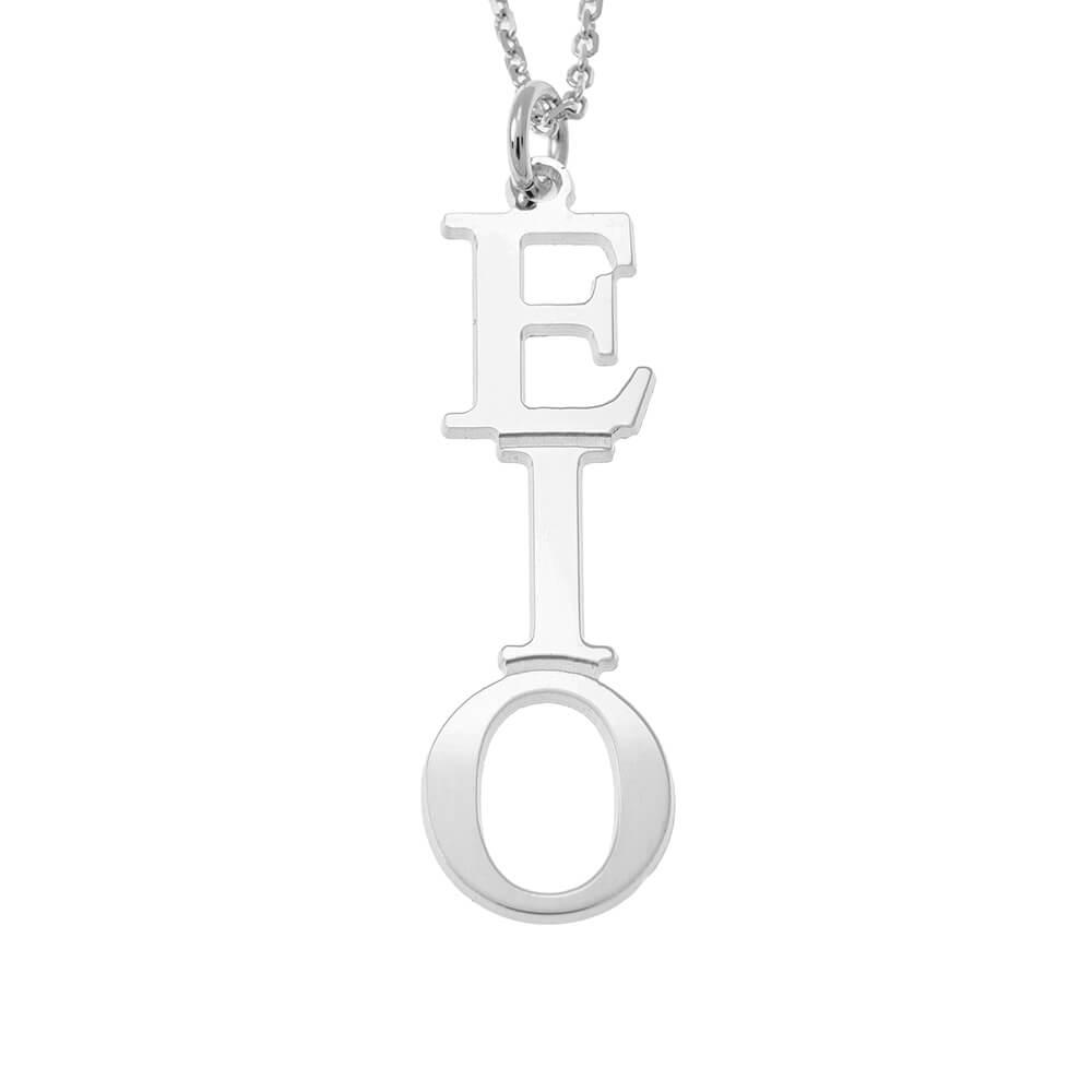 Greek Vertical Collar silver