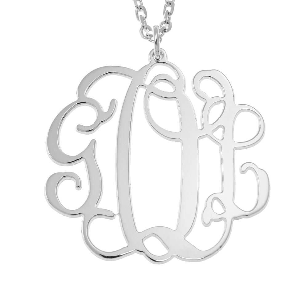 Hanging Monogram Collar silver