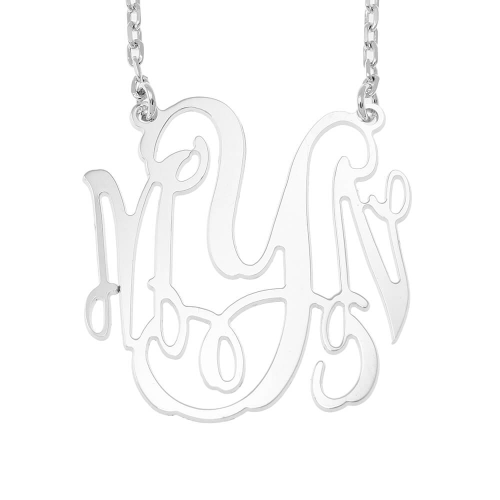 Large Monogram Collar silver