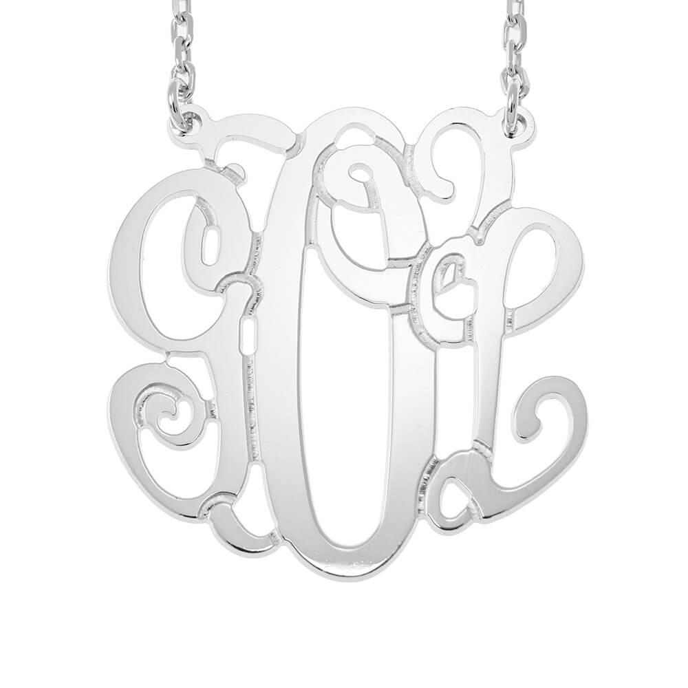 Monogram Collar silver