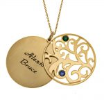 Personalized Double Layer Family Tree Collar 2 names gold