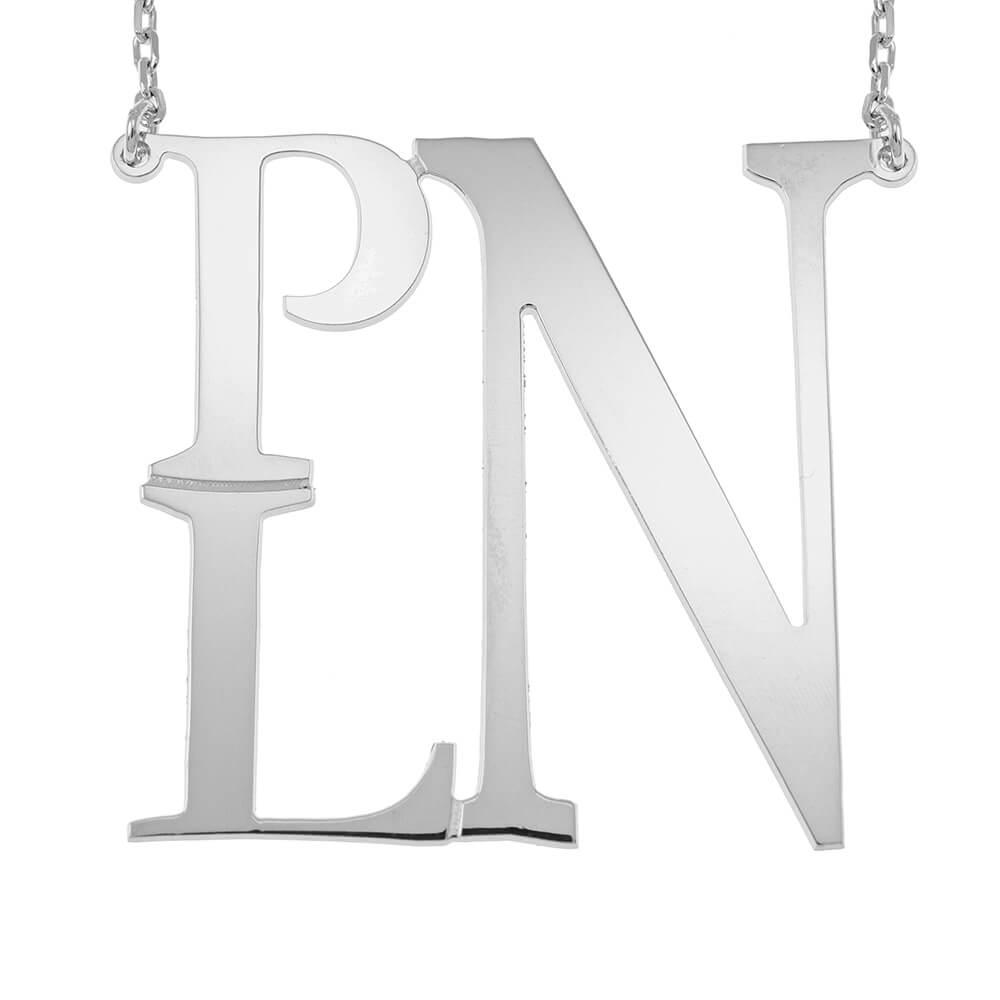 Square Monogram Collar silver