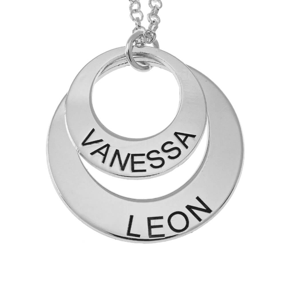 Two Nombres Circles Collar silver