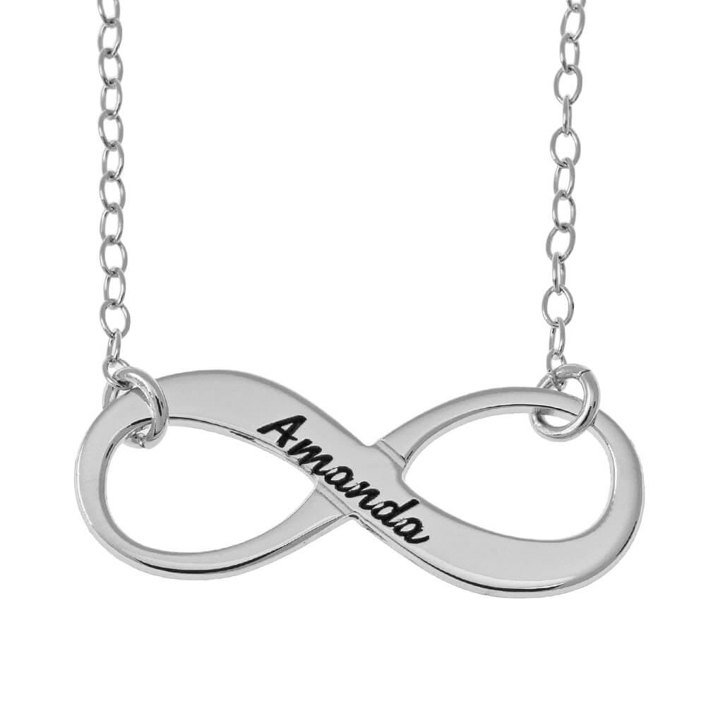 Vintage Nombre Infinity Collar silver