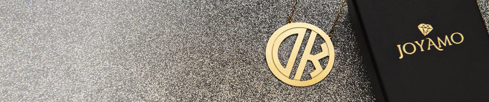 Monogram Necklaces desktop baner